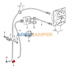 Rubber seal for speedometer cable