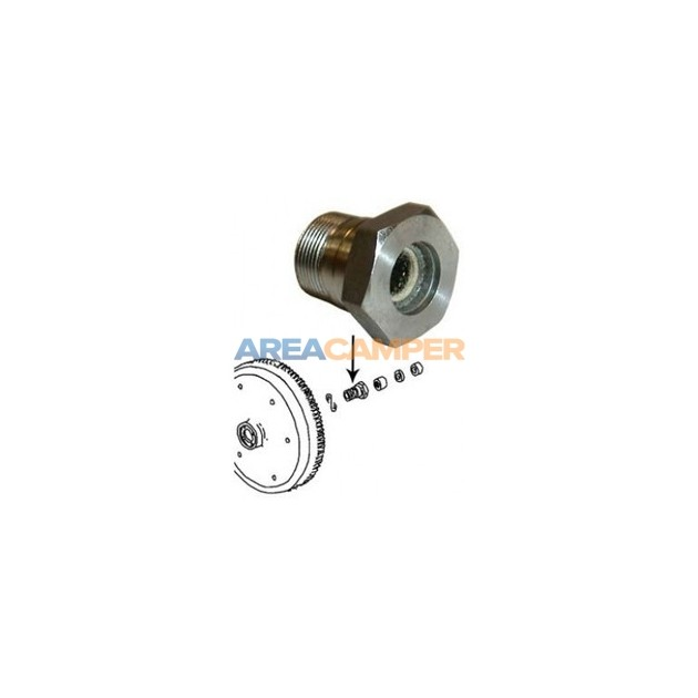 Flywheel gland nut for VW T2 1600 CC (AD,AS) and VW T3 1600 CC (CT)