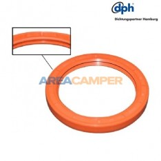 Crankshaft rear main oil silicone seal with double lip, 1600 CC (CT)