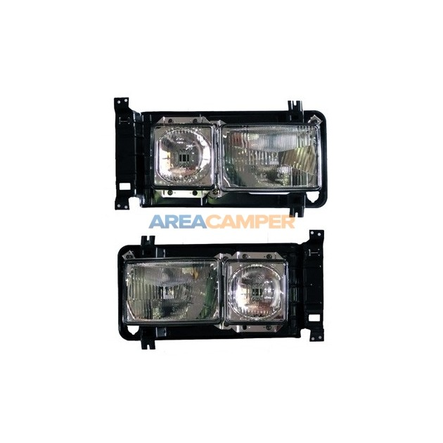 LHD front square headlights kit, with retaining frame