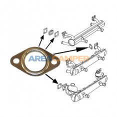 Gasket between cylinder head and exhaust pipe on 1.6L aircooled VW T2 and VW T3 engines