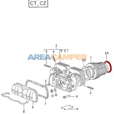 Compensation ring 90x98x0.8 mm between oil sump and cylinder VW T2 1600 CC (08/1967-07/1979) and VW T3 1600 CC (CT)
