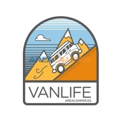 "Adhesivo ""VANLIFE"" AREACAMPER, 85*100 mm"