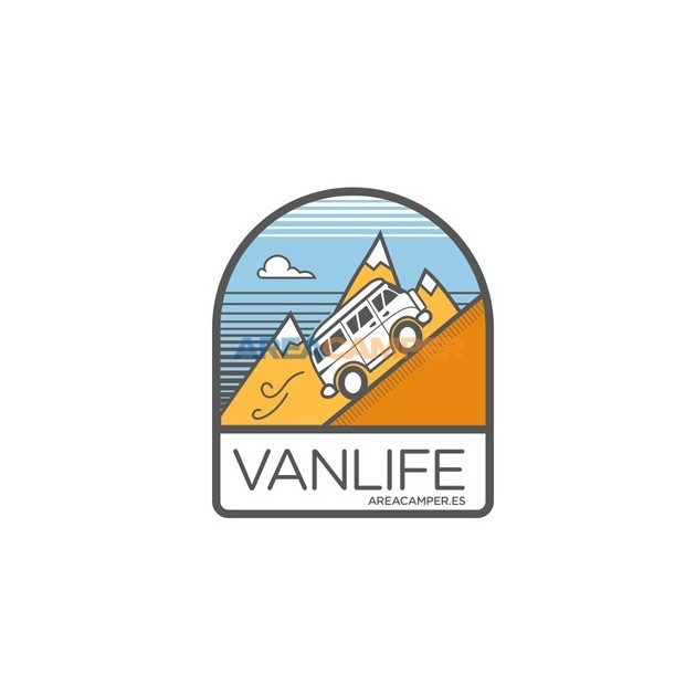 """VANLIFE"" AREACAMPER sticker, 85*100 mm"