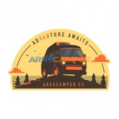 """ADVANTURE AWAITS"" AREACAMPER sticker, 96*60 mm"