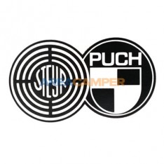 Steyr Puch decal 18*8.5 cm, black