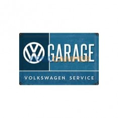 Cartel chapa VW Garage, 10*14 cm