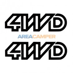 4WD decal for front doors (2 units), 21.5*6 cm