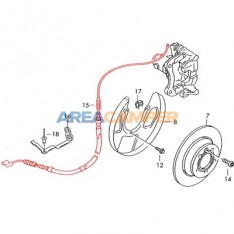 Hand brake cable 943 mm (03/1997-06/2003), left or right side