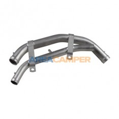 Stainless steel double water pipe above the transmission, Syncro 1.9L and 2.1L (02/1985/07/1992)