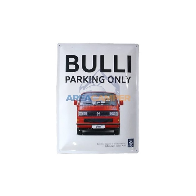 "Tin sign ""Bulli Parking Only"", 29*39 cm"