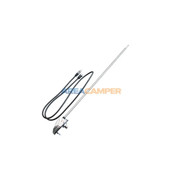 1-point side antenna with chromed base, length 1300 mm