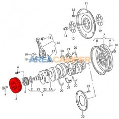 Crankshaft pulley with damper VW T4 (1996-2003) 2.4L D y 2.5L TDI