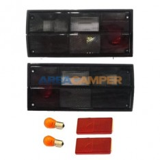 Smoked right and left tail light lens for Hella lampholders