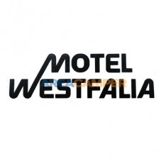 """Motel Westfalia"" sticker 18*5,6 cm, black"