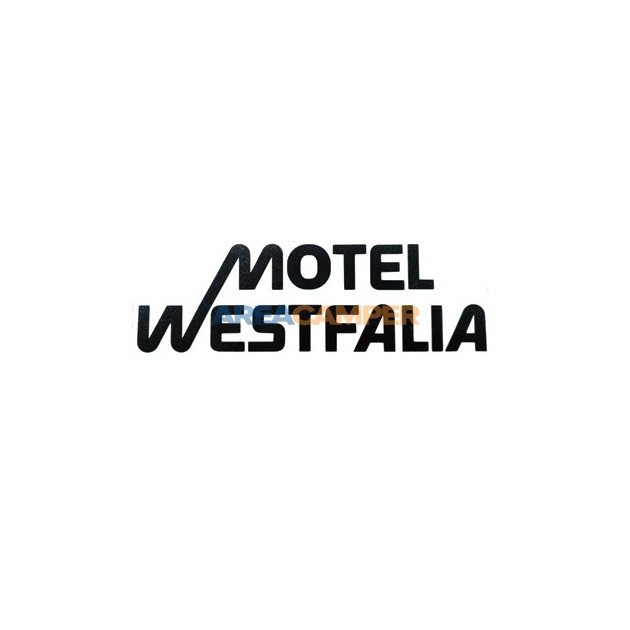 "Adesivo ""Motel Westfalia"", 18*5,6 cm"