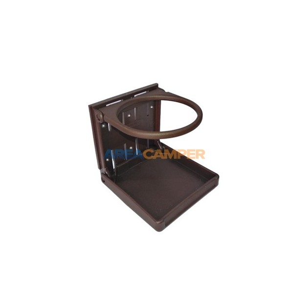 Folding cupholder, brown