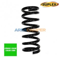 Reinforced coil spring for front axle