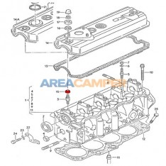 Rocker cover mounting lower sealing ring 1.9L D (1X,1Y), 1.9L TD (ABL,AAZ) and 1.9L TDI (1Z,AFN)
