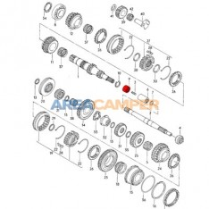 Needle bearing Ø22x30x18 mm for rear mainshaft end on 4 speed, 5 speed and 4WD Syncro gearboxes