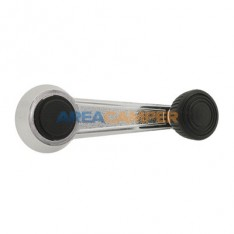 Window winder VW T2 and VW T3 (08/1967-07/1992), metal with chrome finish and black knob and cap