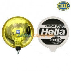 Long distance H2 headlamp Rally 1000, yellow glass, with cover