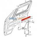 Borracha 348 mm guia elevaçao do vidro VW T2, VW T3 e VW T4