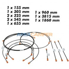 Brake line kit VW T3 2WD without ABS (08/1985-07/1992), steel