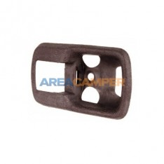 Interior door handle surround, dark brown