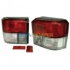 Tail lights set VW T4 (1991-2003), Crystal clear and red
