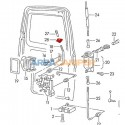 Trim - guide for rear door latch VW T4 (1991-2003)