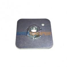 Placa 65x65x3 mm para fijación cinturón seguridad