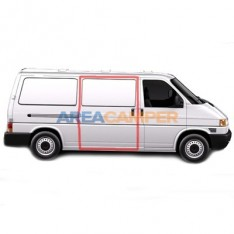 LHD Right sliding door seal VW T4 (1991-2003), for paneled vans without window on sliding door