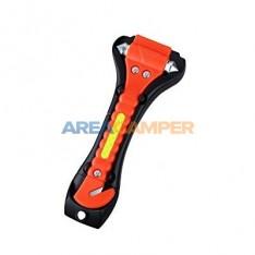 Martillo de emergencia con cuchilla para cinturón de seguridad