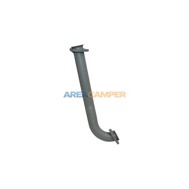 Intermediate pipe to rear silencer, 2WD 1900 CC (DG) and 2100 CC (DJ),08/1987-07/1992
