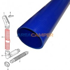 Air intake pipe, length: 100 cm, material: silicone, color: blue
