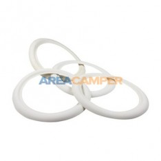 "Wall rings for 15"" wheels, 4 units, white color, width: 40 mm"