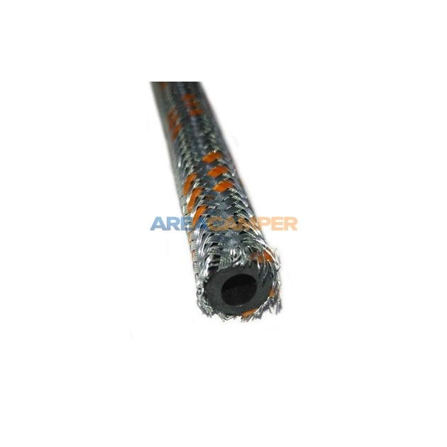 Fuel and oil braided steel hose, Ø inner 6 mm / Ø outer 10 mm, sold by meters