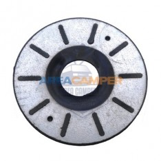 Base inferior de muelle trasero VW T4, 46x156x5 mm