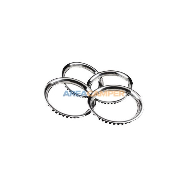 "Beauty rings for 15"" wheels, 4 units, stainless steel, width: 40 mm"