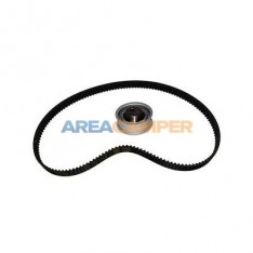 Toothed timing belt kit with tensioner