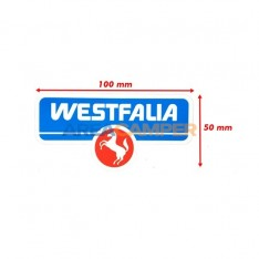 Westfalia sticker, 10x5 cm